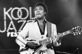 Master guitar player George Benson performs Sunday at the Kool Jazz Festival at the Hampton Coliseum, June, 1982