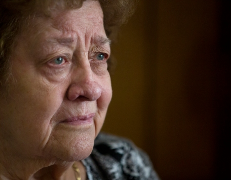 "Stella Panags, 84, cries as she talks about closing Tracy's Restaurant after 60 years of business in downtown Newport News. Panags opened the restaurant at the corner of Huntington Avenue and 35th Street in 1954 with her husband, James ""Jimmy"" Panags. James Panags passed away in 1977, and Stella has kept up the restaurant since."