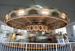 The Hampton Carousel operated at the Buckroe Amusement Park for 65 years before reopening at its current location on Settlers Landing Road in 1991. It is one of fewer than 200 antique wooden carousels remaining in the United States. (Photo by Kaitlin McKeown)