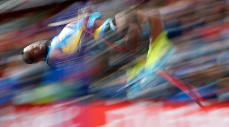 Ryan Ingraham of Bahamas competes in the men's high jump final at the 2014 Commonwealth Games in Glasgow, Scotland, July 30, 2014. REUTERS/Phil Noble