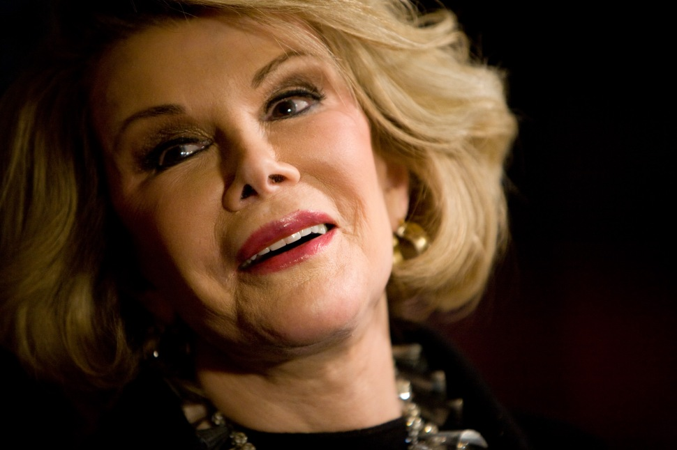 Comedian Joan Rivers has died after being removed from life supports following complications during surgery September 4, 2014 at Mount Sinai Hospital in New York City.  She was 81. WASHINGTON - NOVEMBER 10:  Comedian Joan Rivers speaks to reporters at the awards ceremony for the 11th Annual Mark Twain Prize on November 10, 2008 in Washington, DC. This year's Mark Twain Prize for American Humor was awarded posthumously to George Carlin.  (Photo by Brendan Hoffman/Getty Images)
