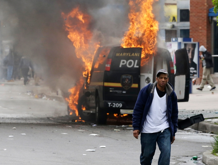 Baltimore riots following funeral of Freddie Gray