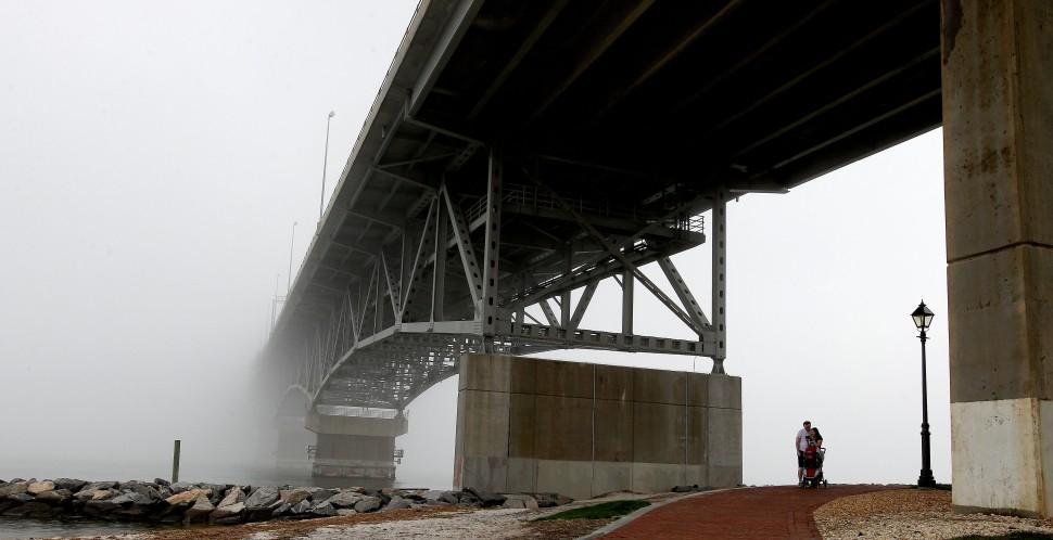 Coleman Bridge Fog