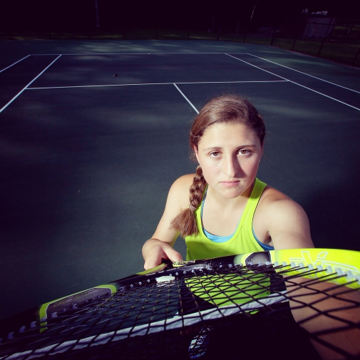 "Jamestown's Anna Walter is the Daily Press all-star for girls tennis. The portrait was processed using the ""Valencia"" filter in Instagram."