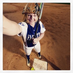 """Smithfield's Sydney Gay is the Daily Press softball all-star for the 2015 season. Her selfie has been processed using the """"Crema"""" filter in Instagram."""