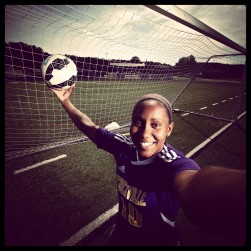 "Menchville's Tori Browne is the 2015 Daily Press soccer all-star. Her photo was processed using the ""Brannan"" filter in Instagram."