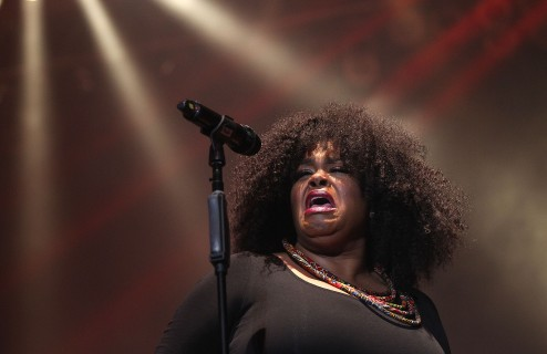 Grammy award winner Jill Scott capped off the first night of the 48th annual Hampton Jazz Festival Friday at the Hampton Coliseum.