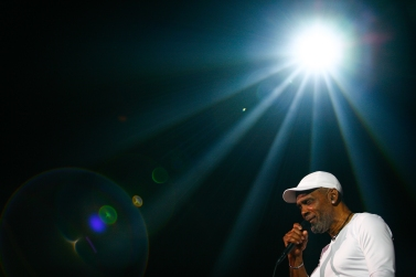 Soul band Maze performs with Frankie Beverly on the third day of the 2015 Hampton Jazz Festival at the Hampton Coliseum in Hampton, Va., on Sunday, June 28, 2015. This is the 15th year Maze has performed at the festival.