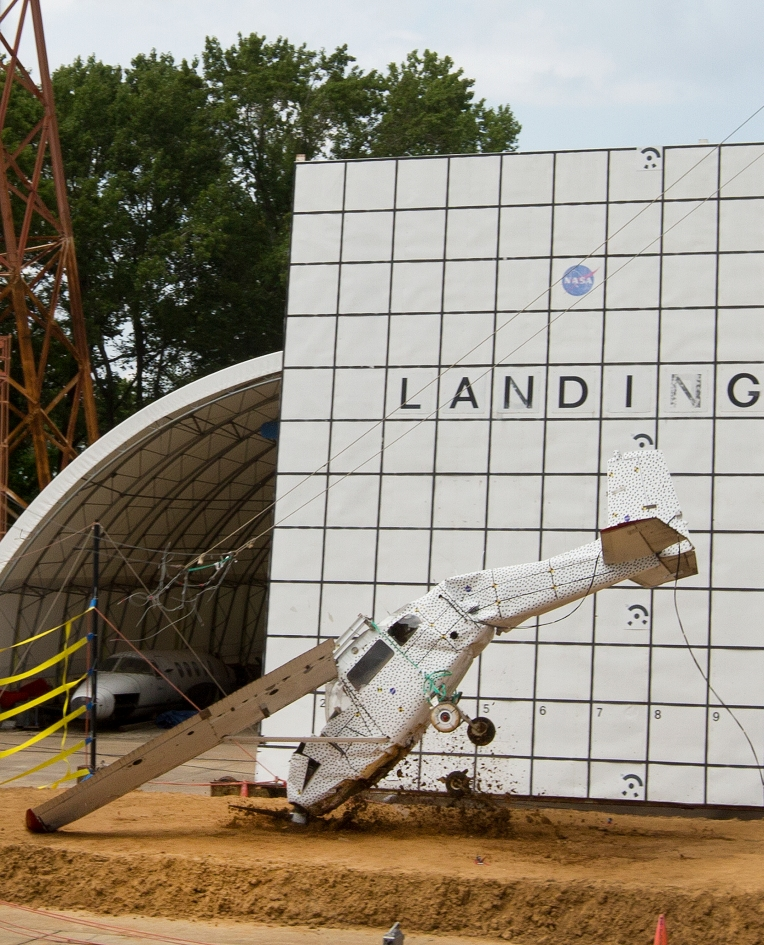 NASA Langley crash tests small plane