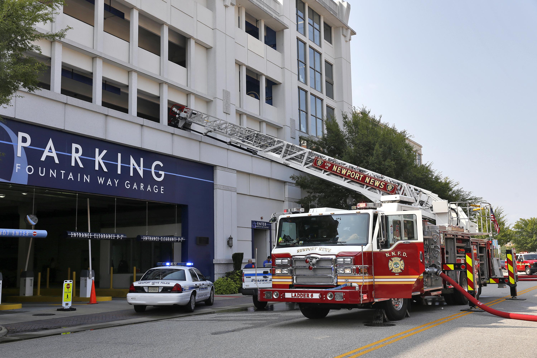 Civic Center Garage: City Center Car Fire