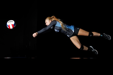 The Daily Press girls volleyball all-star is Warhill's Nicole Mulligan.