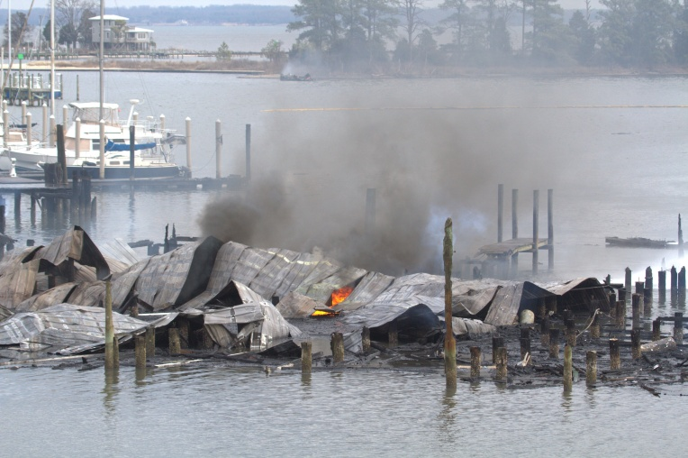 DP Dozier's Marina Fire in Urbanna