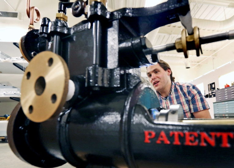 USS Monitor replica pump