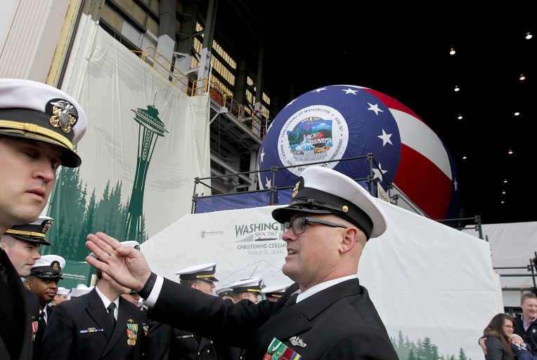 USS Washington SSN 787 Christening