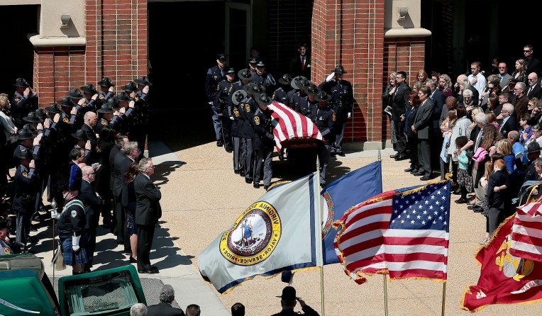 Funeral for Virginia State Trooper Chad Dermyer