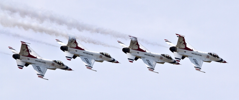 The Air Force Thunderbirds Arrive
