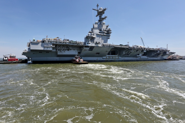 the gerald r ford cvn 78 off the pier and turn the aircraft carrier. Cars Review. Best American Auto & Cars Review