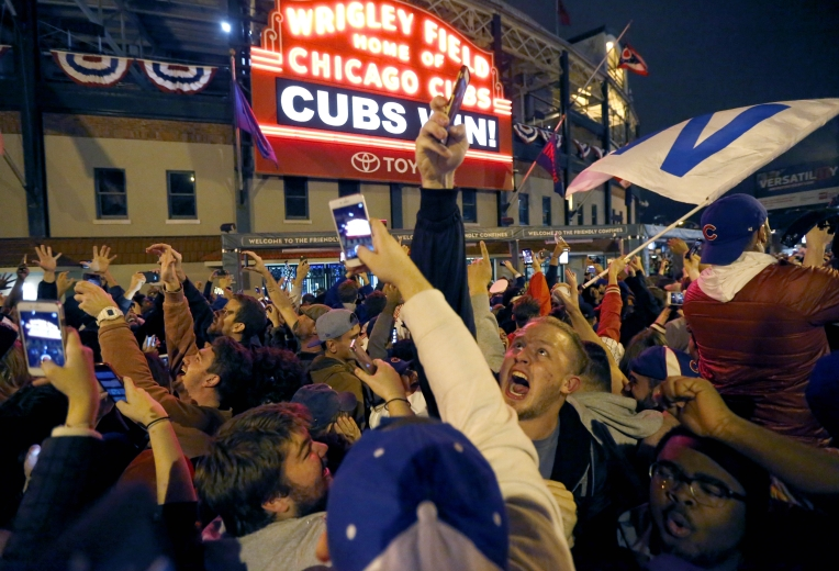 APphoto_World Series Cubs Indians Baseball