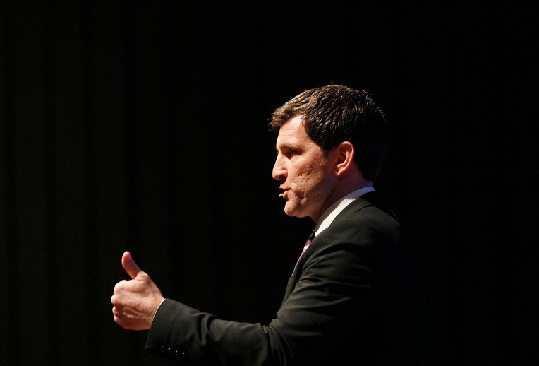 Virginia's 2nd District Congressman Scott Taylor takes questions during a town hall style meeting at York High Tuesday February 21, 2017.