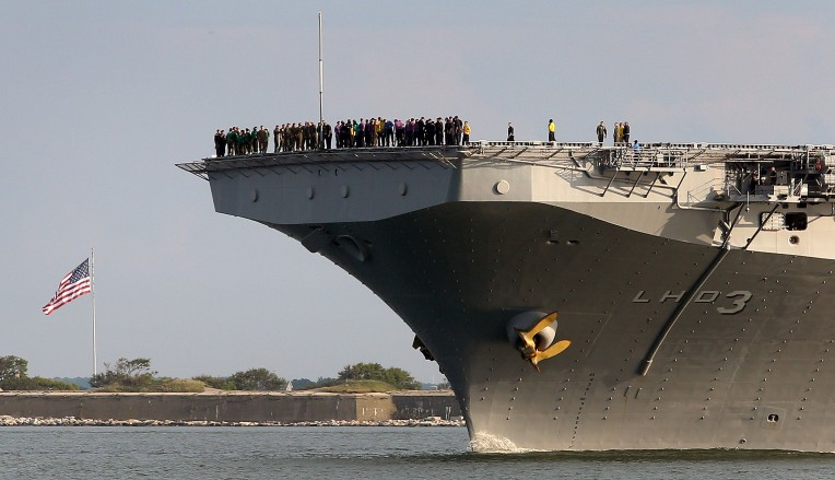 USS Kearsarge Departs for Texas