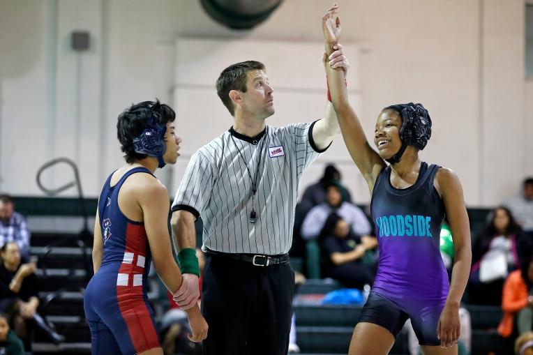 Woodside girls wrestlers make their mark