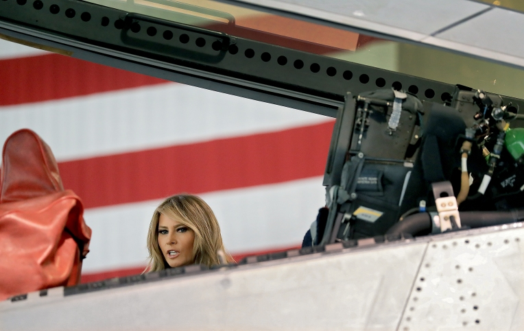 Melania Trump Langley AFB Visit