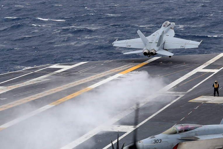 Carrier USS Abraham Lincoln Flight Operations